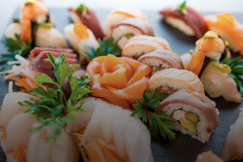 Sushi selection at Imperial Tai-Pan